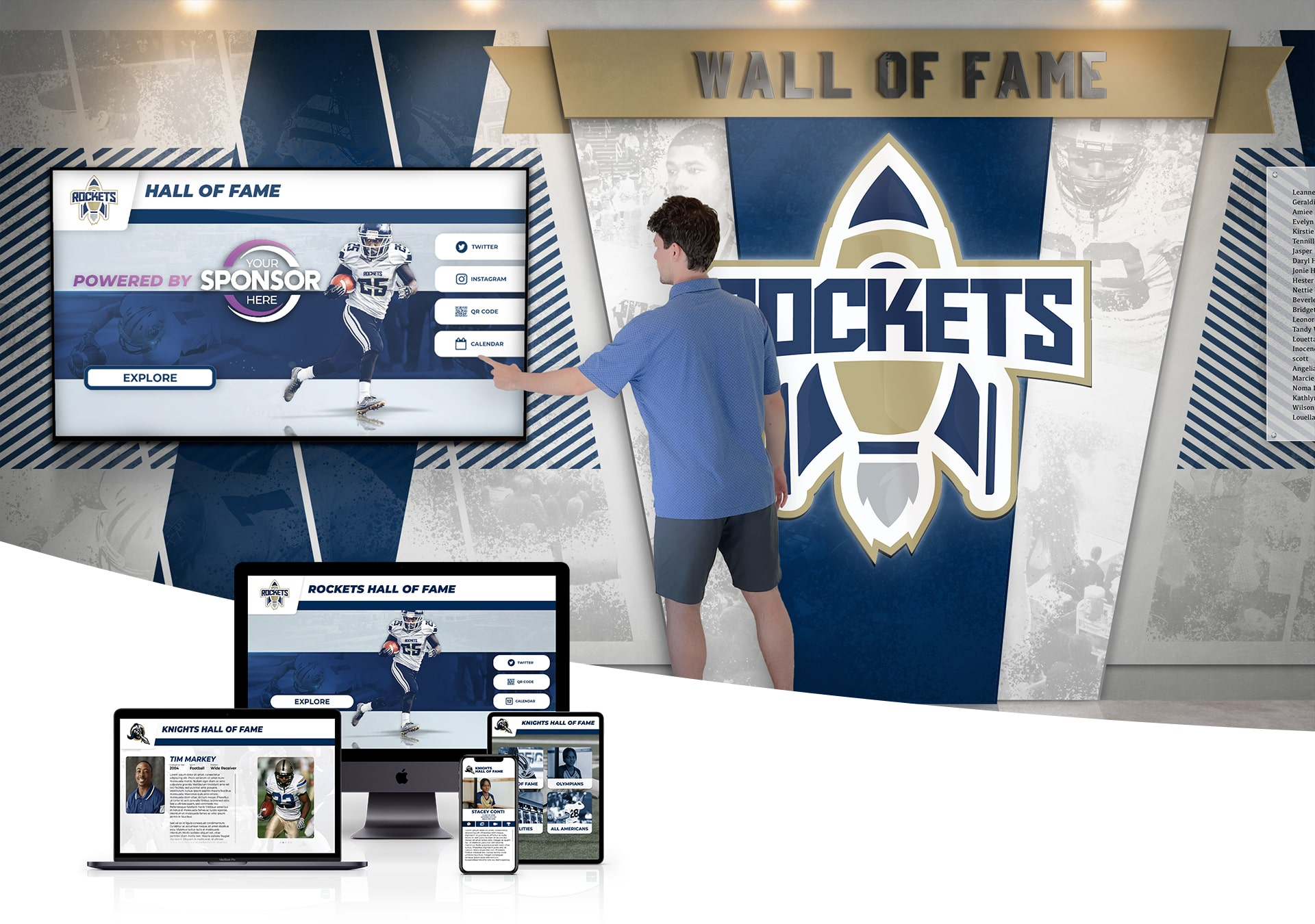 Digital Wall of Fame Touch Screen | Interactive Hall of Fame